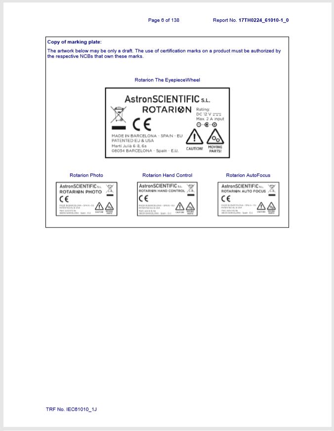 Buerau Veritas Final Certification Report CE Marking Plates