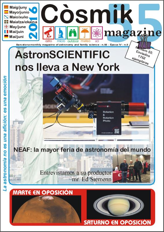 AstronSCIENTIFIC, COSMIK Magazine - May & June 2016
